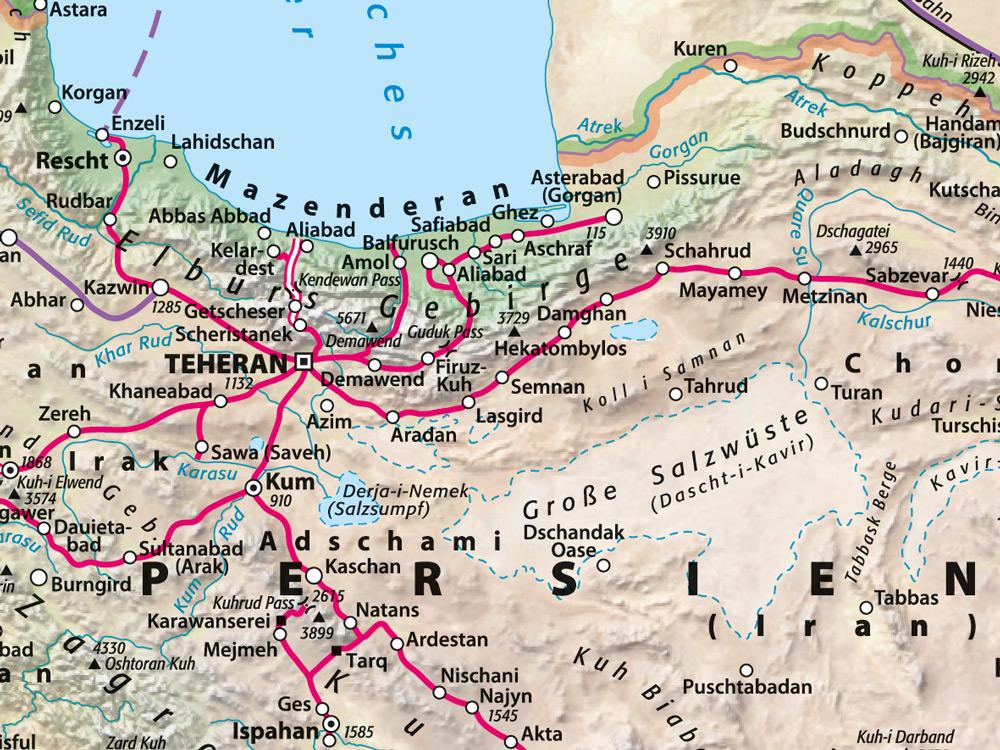 Persien Karte.Kartengalerie