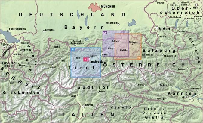 Bezirks-Aushangkarten Übersicht