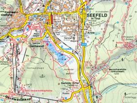 Wanderkarte Seefeld 1:20.000, 1980