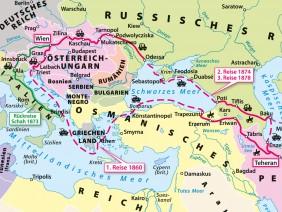 Historisch-politische Karte Europa-Persien</br>im Buch 'Albert Gasteiger Khan', 2013