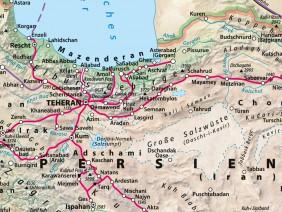 Hist.-topographische Karte von Persien</br>im Buch 'Albert Gasteiger Khan', 2013