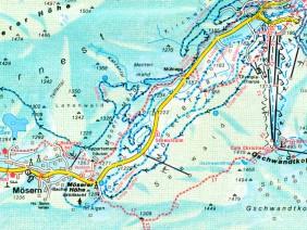 Winterwanderkarte Seefeld 1:20.000, 1983