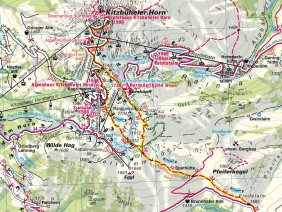 Wanderkarte Kitzbühel 1:25.000, 2008