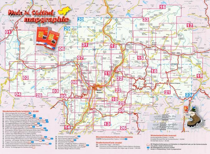 mapgraphic edition - Landkarten von Südtirol