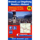Wanderkarte Nr.15 Bruneck & Umgebung