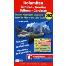 Panorama- & Straßenkarte Nr.203 Dolomiten