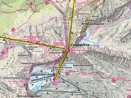 Ausschnitt aus Wanderkarte Nr.3 Seefeld-Leutasch