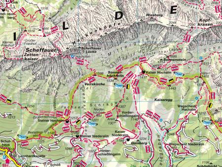 Ausschnitt aus Wanderkarte Nr.34 WilderKaiser-Brixental