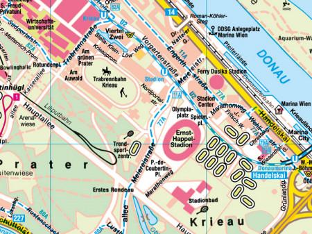 Ausschnitt aus Stadtplan Nr.90 Wien