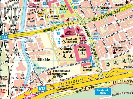 Ausschnitt aus Stadtplan Nr.92 Innsbruck