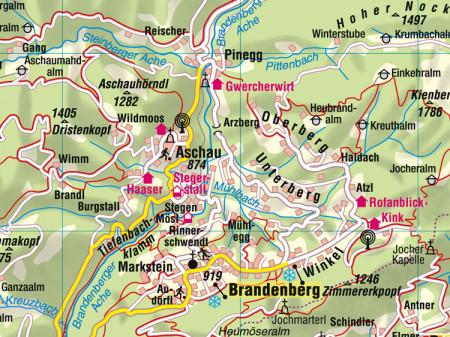 Ausschnitt aus Aushangkarte Bezirk Kufstein