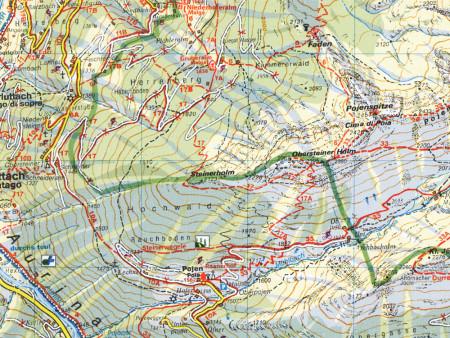 Ausschnitt aus Wanderkarte Nr.16 Ahrntaler Berge