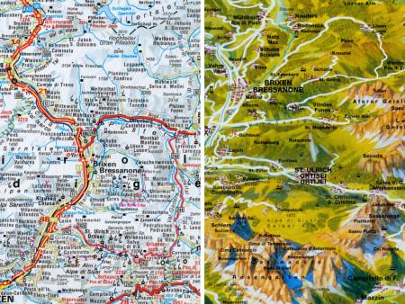 Ausschnitt aus Panorama- & Straßenkarte Nr.203 Dolomiten