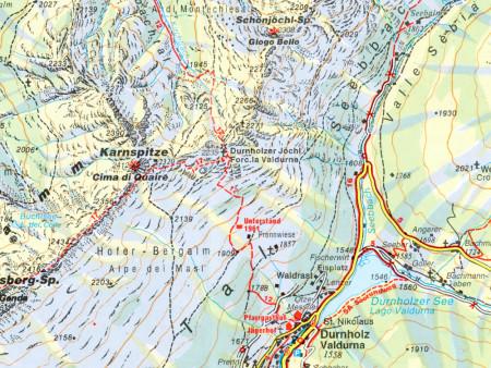 Ausschnitt aus Wanderkarte Nr.31 Sarntaler Alpen