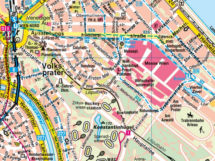 Wien Stadtplan Mit Sehenswurdigkeiten Zum Download Planative