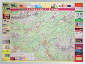 Blattübersicht Aushangkarte Seefelder Plateau