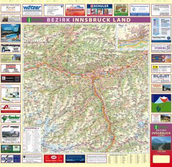Blattübersicht Aushangkarte Bezirk InnsbruckLand