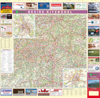 Blattübersicht Aushangkarte Bezirk Kitzbühel