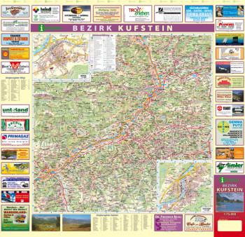 Blattübersicht Aushangkarte Bezirk Kufstein