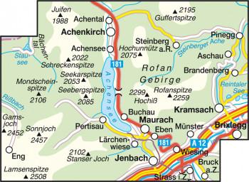 Blattübersicht Wanderkarte Nr.30 Achensee-Rofangebirge