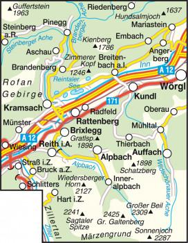 Blattübersicht Wanderkarte Nr.31 Alpbachtal-Seenland