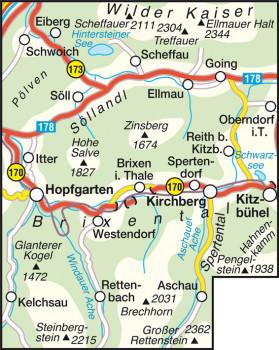 Blattübersicht Wanderkarte Nr.34 WilderKaiser-Brixental