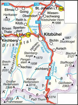 Blattübersicht Wanderkarte Nr.35 Kitzbühel