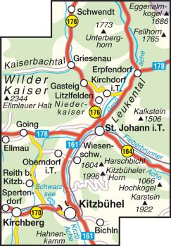 Blattübersicht Wanderkarte Nr.36 St. Johann in Tirol